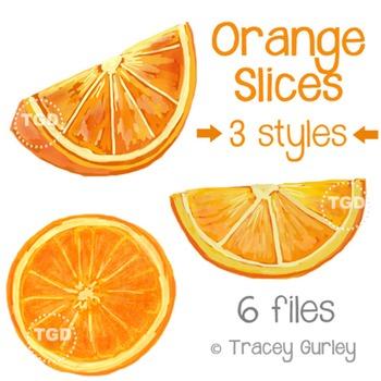 Orange Slices Art - orange slice clip art Printable Tracey Gurley Designs