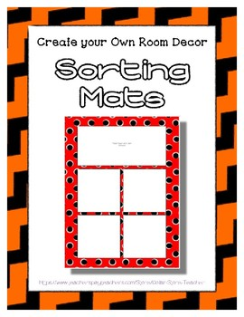 Orange Sorting Mat Frames * Create Your Own Dream Classroom / Daycare *