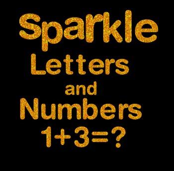 Orange Sparkle Letters