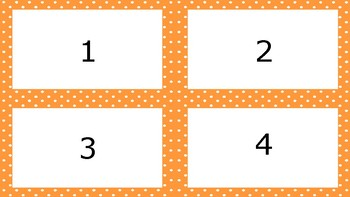 Orange Spotty Times Tables Flash Cards Answers