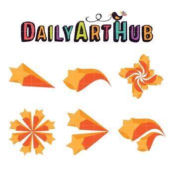 Orange Stars Clip Art - Great for Art Class Projects!