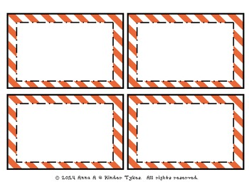 Orange Stripe Labels by Kinder Tykes
