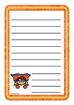 Orange Superhero Worksheets