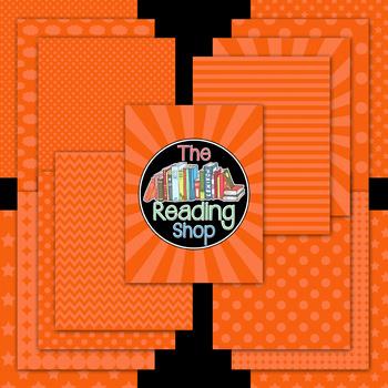 Orange Patterned Digital Papers Frames Banner