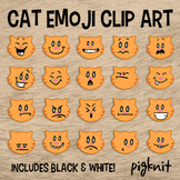Orange Tabby Cat Clipart | Emotion Clipart | Emoticons | Facial Expressions
