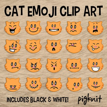 Orange Tabby Cat Clipart | Emotion Clipart | Emoticons | F