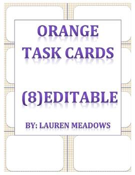 Orange Task Cards (8)