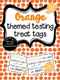 Orange Themed Testing Treat Tags!