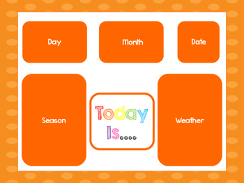 Orange Today Is....Mat, Cards, Labels. Preschool-Kindergarten Circle Time.