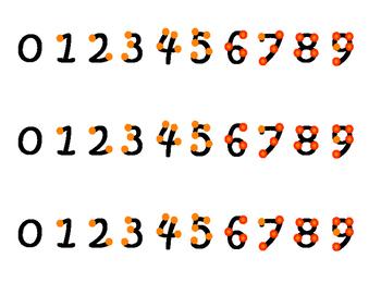Orange Touch Math Strips