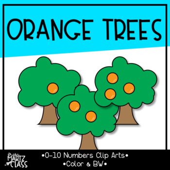 Orange Tree Cliparts (Numbers 0-10)