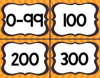 Orange Crush Lexile Labels for Classroom Library Book Bins