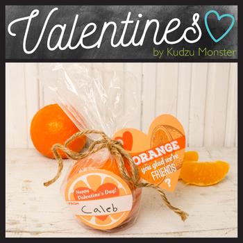 Orange Valentine Tag