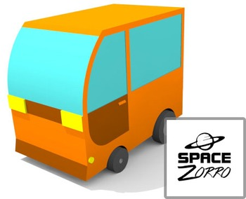 Orange Vehicle Image ( 3D )