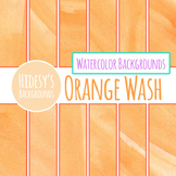 Orange Watercolor / Water Colour Wash Backgrounds / Digital Papers Clip Art Set
