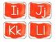 Orange Watercolor Word Wall Alphabet