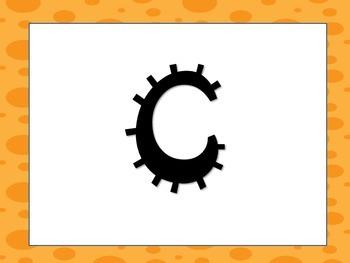 Orange Word Wall Letters