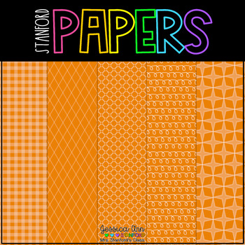 Digital Papers Orange Ya Glad? {25 backgrounds - personal & commercial use}