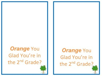 Orange You Glad  Bulletin Board and Desk Toppers
