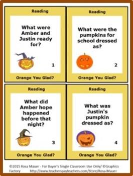 Orange You Glad It's Halloween Amber Brown Book Unit