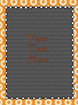 Orange and Black  Binder Covers/Dividers (editable)