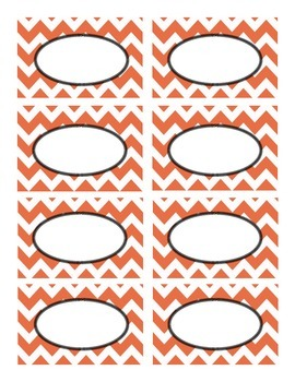 Orange and Black Chevron Labels - Halloween