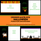 Orange and Black Halloween Themed PowerPoint Backgrounds