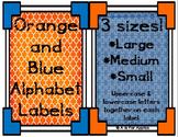 Orange and Blue Alphabet Labels