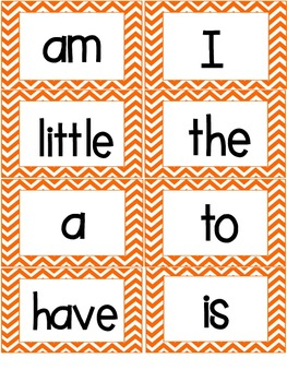 Orange and Blue Chevron Word Wall