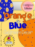 Orange and Blue Classroom Decor {The Campus Collection}