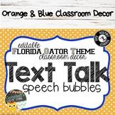 Orange and Blue Theme {Speech Bubbles)