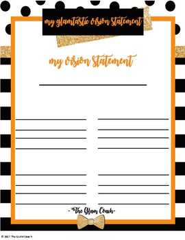 Orange and Gold Destiny Vision Sheets