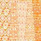 Orange and Gold aztec Digital Paper, Boho seamless patterns backgrounds