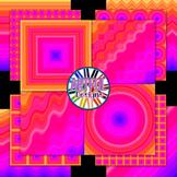 Orange and Pink Stripes Digital Paper Backgrounds