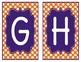 Orange and Purple Polka Dot Word Wall Alphabet