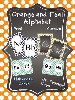 Orange and Teal Alphabet *New*