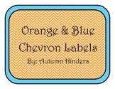 Orange and Teal Chevron Labels
