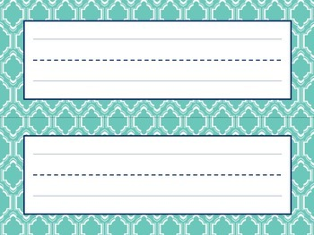 Orange and Teal Name Plates *New*