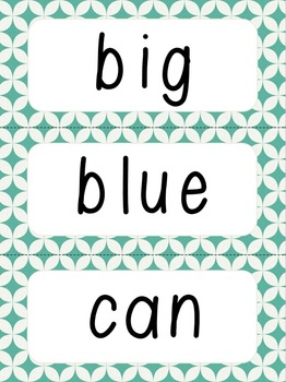 Orange and Teal Word Wall *New*
