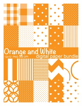 Orange and White Digital Paper