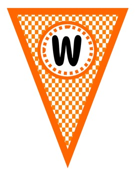 Classroom Decor Pack--Orange and White Football Themed