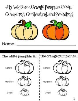 Orange and White Pumpkin Book: Compare, Contrast, Predict
