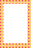 Orange and Yellow Polka dot Border