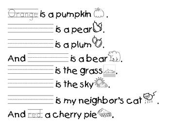 Orange is a Pumpkin Color Song