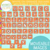 Orange on White Letter Tile Clip Art {MOVEABLE IMAGES}