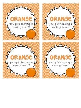 Orange you glad testing is over