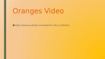 Oranges Poem Powerpoint