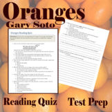 Oranges by Gary Soto - Close Reading Quiz - Google Doc Version Distance learning
