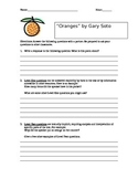 """""""Oranges"""" by Gary Soto Question Writing Assignment"""
