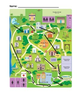 Orangetown Map with questions KEY